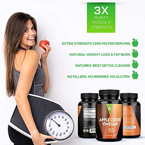 Apple Cider Vinegar Capsules, Detox and Colon Cleanse, Herbal Appetite Suppressant and Metabolism Booster Supports Natural Weight Management by Naturo Sciences 5