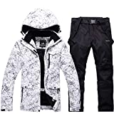 Fashion Women's High Waterproof Windproof Snowboard Colorful Printed Ski Jacket and Pants (style1, 2XL)