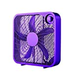 Mainstay Vibrant Purple Color 20' Box 3-Speed Fan