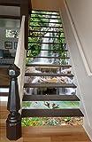 "3D Long Waterfall Nature 6544 Stair Risers Decoration Photo Mural Vinyl Decal Wallpaper Murals Wallpaper Mural US Lemon (13x H:18cm x W:94cm (7""x37""))"