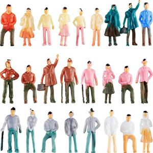 Gejoy 200 Pieces People Figurines 1:75 Scale Model Trains Architectural Plastic People Figures Tiny People Sitting and Standing for Miniature Scenes 51s85T7U8EL