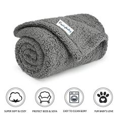 Furrybaby-Premium-Fluffy-Fleece-Dog-Blanket-Soft-and-Warm-Pet-Throw-for-Dogs-Cats-Small-24x32-Grey
