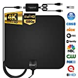 Innoo Tech TV Antenna - HDTV Antenna Support 4K 1080P, 60-120 Miles Range Digital Antenna for HDTV, VHF UHF Freeview Channels Antenna with Amplifier Signal Booster, 16.5 Ft Longer Coaxial Cable