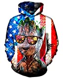 Product review for Chiclook Cool Unisex Hipster American Flag Digital Print Hoodie Design Funny Pullover Sweatshirt Tracksuit Hip Hop Streetwear