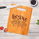 Housewarming Gift - Engraved Cutting Board - Realtor Closing Gift - New Home Gift (9x6, Bamboo-Home)
