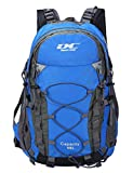 Diamond Candy Waterproof Hiking Backpack 40L with Rain Cover for Outdoor Darkblue