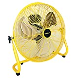 STANLEY ST-20F High Velocity Direct Drive Floor Fan 20' Yellow, Black