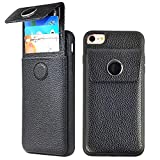 iPhone 7 Wallet Case, JLFCH iPhone 8 Case with Wallet Card Holder Drawer-Type Case ID Credit Card Slot Cover Leather Protective Case for Apple iPhone 7/8, 4.7 inch - Black