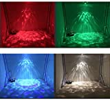 Led Ripple Light Christmas Ocean light DJ light Party Light Disco stage Lights RGBW 14-color magic ball Remote Water wave Ripple Effect Light for Night Club Bar Pub New year Party Home Decoration