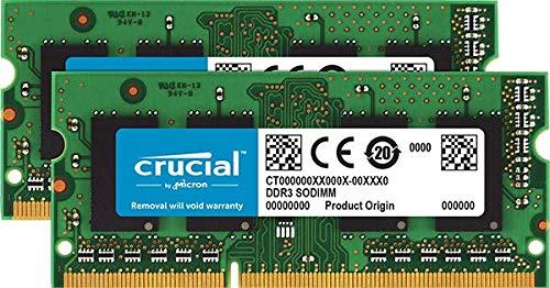 Crucial 8GB Kit (4GBx2) DDR3/DDR3L 1600 MT/s (PC3L-12800) Unbuffered SODIMM 204-Pin Memory - CT2KIT51264BF160BJ