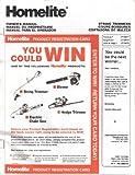 Homelite String Trimmer Owner's Manual/Maintenance Instructions for Models UT20677 UT20678 UT20679