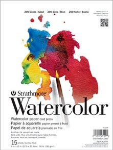 Strathmore (25-109 STR-025-109 15 Sheet Cold Press Watercolor Pad