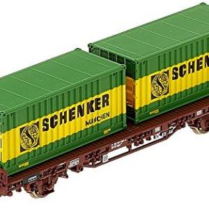 Rivarossi HR6414 Kglps Model Railway Trolley with Two Removable Trays Schenker Model Railway Brown 51sHTLJ70aL