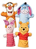 Melissa & Doug Winnie The Pooh Hand Puppets, Puppet Sets, Pooh, Piglet, Tigger, and Eeyore, Soft Plush Material, Set of 4, 14' H x 8.5' W x 2' L