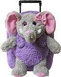 Kreative Kids Elephant Rolling Backpack w/ Shiny Eyes, Removable Stuffie & Wheels