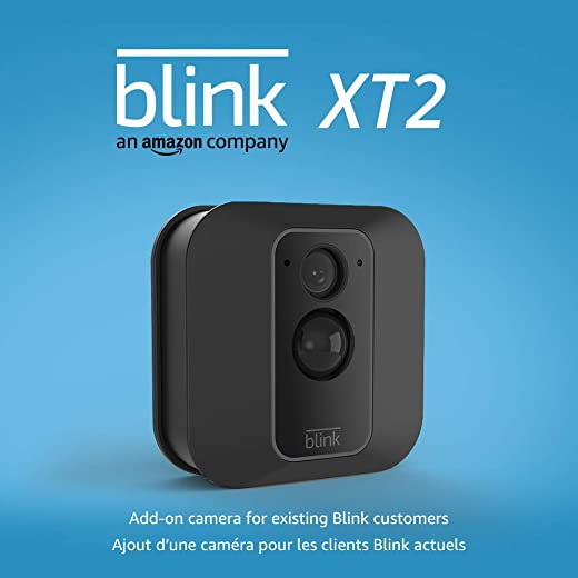 Blink XT2 Outdoor/Indoor Smart Security Camera with cloud storage included, 2-way audio, 2-year battery life – Add-on camera for existing Blink customers