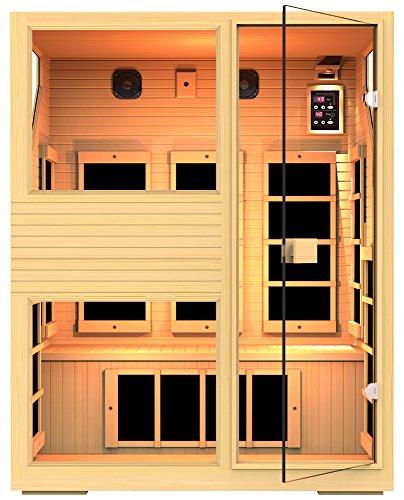 JNH Lifestyles NE3HB1 ENSI Collection 3 Person NO EMF Infrared Sauna Limited