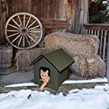K&H Pet Products Outdoor Kitty House, Unheated, Olive
