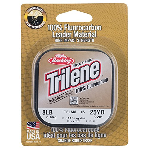 Berkley Trilene 100% Fluoro Leader Mat, Clear, 25-Yard/4-Pound