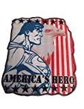 Superman America's Hero Eagle Flag Embroidered Iron On Patch DC Comics