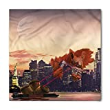 Animal Bandana, Big Squirrel Cartoon NYC, Unisex Head and Neck Tie,39.339.3inch