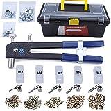 Muzata Hand Rivet-Nut Installation Tool Blind Rivet Nut Kit Set,Come with 900pcs Rivet Nuts,1 Rivet nut and Carry Box RK01