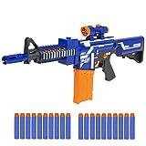 Best Choice Products Kids Soft Foam Bullet Blaster Semi Automatic Toy Gun Long Distance Range W/ 20 Darts