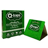 Q-Traps Pantry Moth Traps - Safe, Nontoxic, Insecticide & Odor Free, Pheromone Attractant Traps for Common Kitchen Moths (6)