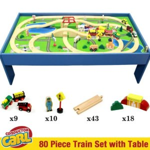 Conductor Carl Train Table & Play Board Set (80 Piece) 51sb6rSNi1L