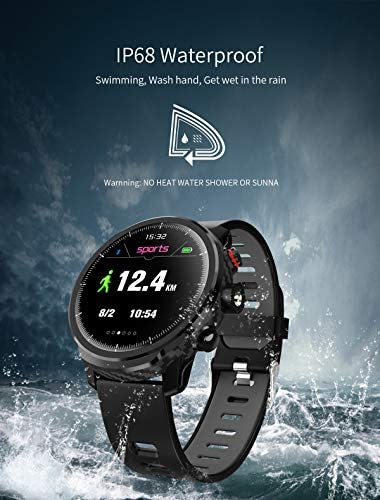Fitness Tracker Activity Tracker Heart Rate Monitor Pedometer IP68 Sports Smart Watch Multifunction 5