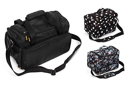 Kenley Professional Hairdressing Hair Salon Styling Tools Carry Case Bag Organizer - Medium-Sized - Prestige Black