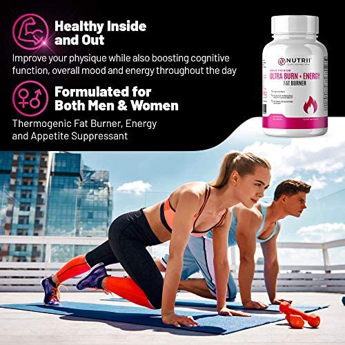 Nutrii Thermogenic Fat Burner and Weight Loss Supplement, Keto Friendly CLA and Garcinia Fortified Appetite Suppressant and Energy Booster with Green Tea and Raspberry Ketones (30 Servings-2 Pack) 5