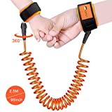 Anti Lost Wrist Link, Child Safety Harness Leash for Toddlers, Babies & Kids, 8.2ft(Orange)