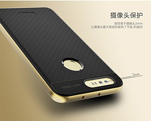 51sheAkVh3L - Case Creation Hybrid Ultra Thin Shockproof Back Bumper Cover for Huawei Honor 8 4GB Android 6.0 4G LTE 5.2 Inch (Champaine Gold)
