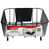 Rubbermaid Antimicrobial Dish Drainer, Small, Black 1858912