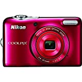Nikon COOLPIX L32 Digital Camera with 5x Wide-Angle NIKKOR Zoom Lens (Red) (Renewed)