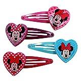 Minnie Mouse Hair Clips (4 Pack) - Disney Hair Accessories