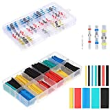 405pcs Solder Seal Wire Connectors & Heat Shrink Tubing, Butt Connectors and Shrink Tubes Kit Insulated Waterproof Marine Automotive Solder Connector Kit