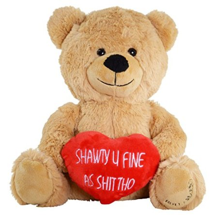 Hollabears Shawty U Fine As Shit Tho Teddy Bear – Funny and Cute for Girlfriend, Boyfriend or Best Friends