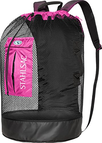 Stahlsac by Bare Bonaire Deluxe Mesh Wet/Dry Backpack (Black / Pink)