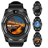 Life Like V8 Bluetooth Smartwatch With Sim & Tf Card Support With Apps Like Facebook And Whatsapp Touch Screen Multilanguage Android/Ios Mobile Phone Wrist Watch Phone With Activity Trackers And Fitness Band