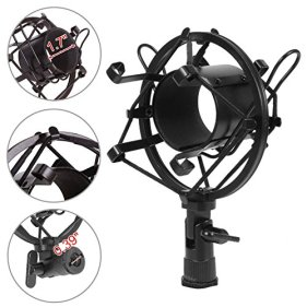 Voilamart-Condenser-Microphone-Set-BM-800-with-Adjustable-Recording-Microphone-Suspension-Scissor-Arm-Stand-with-Shock-Mount-and-Mounting-Clamp-Kit-for-Studio-Broadcasting-Recording