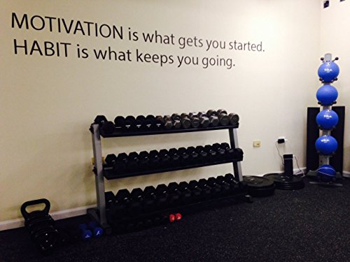 Motivational Wall Decal, MOTIVATION is what gets you started. HABIT it what keeps you going. Gym wall decal, classroom Wall decal, office wall decal