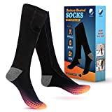 COOLEKOM Heated Socks - Keep Warm All Day -Rechargeable Battery Operated Heated Socks -Up to 9Hrs Heat -Best Heated Socks Women Men -Ideal Warming Socks for Winter Work -Cold Weather Socks -Snow Socks