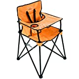 ciao! baby Portable High Chair for Travel, Fold Up High Chair with Tray, Orange