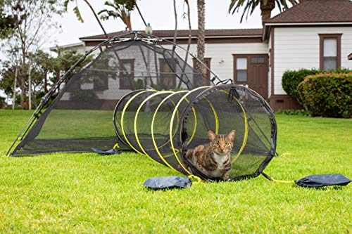 Outback Jack Outdoor Cat Enclosures for Indoor Cats [Portable Cat Tent, Cat Tunnel, and Playhouse] (Play Tents for Cats and Small Animals)