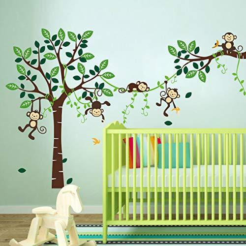 La particolare definizione dei nostri adesivi permette innumerevoli modi di utilizzo. Decalmile Adesivi Murali Scimmia E Albero Adesivi Da Parete Animali Della Giungla Decorazione Murale Cameretta Bambini