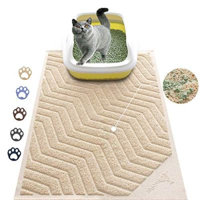 WePet Cat Litter Mat, Kitty Litter Trapping Mesh Mat, 35 x 23 Inch Large, Premium Durable PVC Rug, No Phthalate, Urine Waterproof, Easy Clean, Washable, Scatter Control, Litter Box Carpet