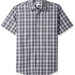 Amazon Essentials Men's Regular-Fit Short-Sleeve Plaid Casual Poplin Shirt 11 Fashion Online Shop Gifts for her Gifts for him womens full figure