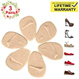 Metatarsal Pads for Womens Heel Cushion Inserts - All Day Pain Relief and Ball of Foot Cushions, 3 Pairs Shoe Inserts Womens Also Suitable for Mens